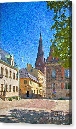 Malmo Stortorget Painting Canvas Print by Antony McAulay