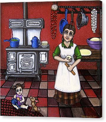 Mamacita Canvas Print by Victoria De Almeida