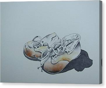 Mama's First Shoes-cira1930 Canvas Print by Ramona Kraemer-Dobson