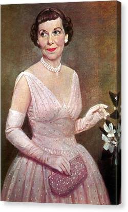 Mamie Eisenhower, First Lady Canvas Print by Science Source