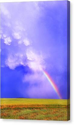Mammatus Rainbow Of New Mexico Canvas Print by Jason Politte