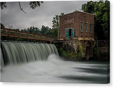 Mammoth Spring Dam Canvas Print by Paul Freidlund