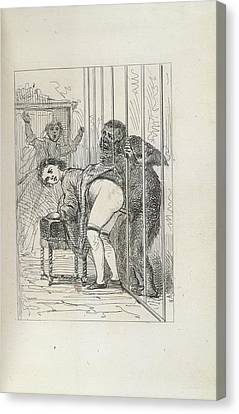 Man And Ape Canvas Print by British Library