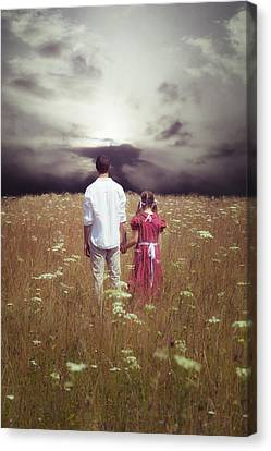 Man And Girl Canvas Print by Joana Kruse