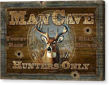 Man Cave Deer Canvas Print by JQ Licensing