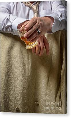 Man Drinking Spirits Canvas Print by Amanda And Christopher Elwell