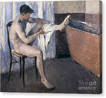 Man Drying His Leg  Canvas Print by Gustave Caillebotte