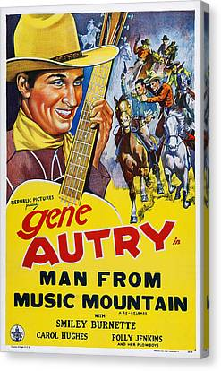 Man From Music Mountain, Us Poster Canvas Print by Everett