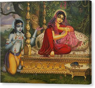 Man Lila Canvas Print by Vrindavan Das