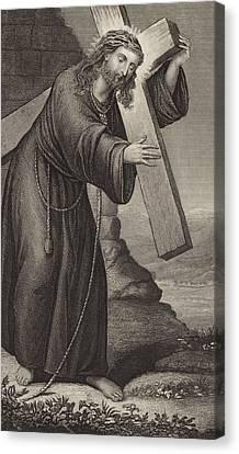 Man Of Sorrow Canvas Print by English School