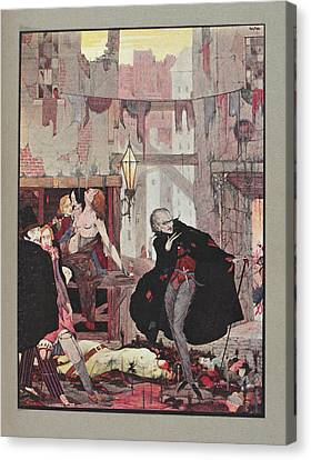 Man Of The Crowd Canvas Print by British Library