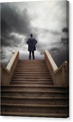 Man On Stairs Canvas Print by Joana Kruse