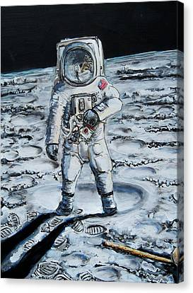 Man On The Moon Canvas Print by Mitchell McClenney