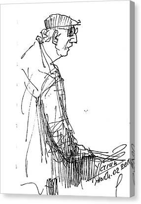 Man Standing Canvas Print by Ylli Haruni