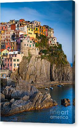 Manarola Afternoon Canvas Print by Inge Johnsson