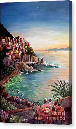 Manarola-cinque Terre-italy Canvas Print by Marilyn Smith