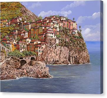 Manarola   Canvas Print by Guido Borelli