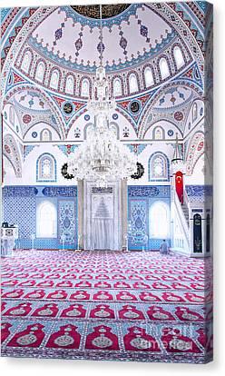 Manavgat Mosque Interior 01 Canvas Print by Antony McAulay