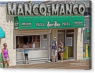 Manco And Manco Pizza Canvas Print by Tom Gari Gallery-Three-Photography