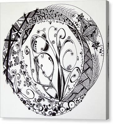 Mandala #1 Canvas Print by Lori Thompson