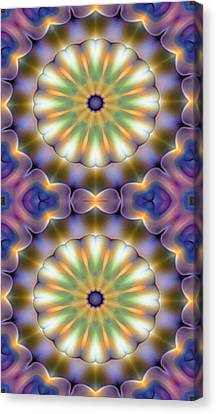 Mandala 105 For Iphone Double Canvas Print by Terry Reynoldson