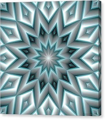 Mandala 107 Blue Canvas Print by Terry Reynoldson