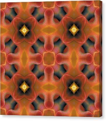 Mandala 124 Canvas Print by Terry Reynoldson