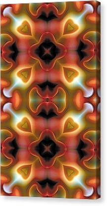 Mandala 98 For Iphone Double Canvas Print by Terry Reynoldson