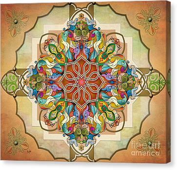 Mandala Birds Sp Canvas Print by Bedros Awak