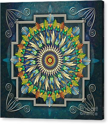 Mandala Night Wish Canvas Print by Bedros Awak