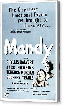Mandy, Aka Crash Of Silence, Us Poster Canvas Print by Everett