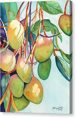 Mangoes Canvas Print by Marionette Taboniar