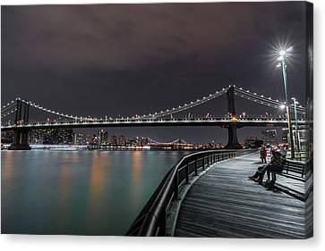 Manhattan Bridge - New York - Usa 2 Canvas Print by Larry Marshall