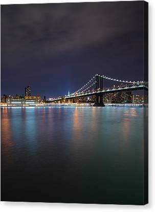 Manhattan Bridge - New York - Usa Canvas Print by Larry Marshall