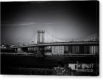 Manhattan Bridge New York City Canvas Print by Sabine Jacobs