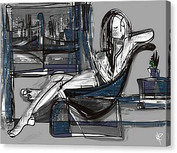 Manhattan Nude Canvas Print by Russell Pierce