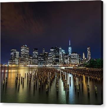 Manhattan Skyline - New York - Usa Canvas Print by Larry Marshall