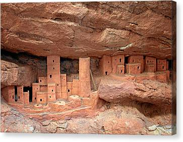 Manitou Cliff Dwellings Canvas Print by Christine Till