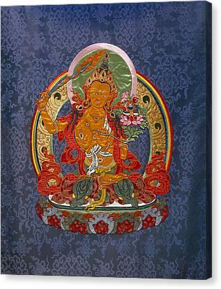Manjushri Canvas Print by Leslie Rinchen-Wongmo