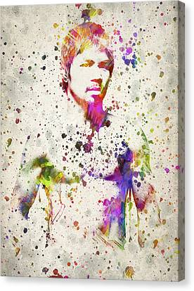 Manny Pacquiao Canvas Print by Aged Pixel