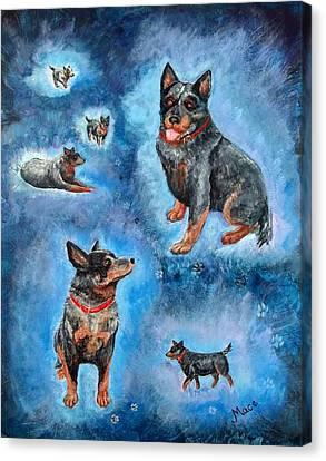 Man's Best Friend Canvas Print by Joan Mace
