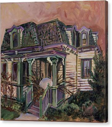 Mansard House With Nest Egg Canvas Print by Tilly Strauss