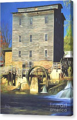 Mansfield Mill Canvas Print by Steve Bailey