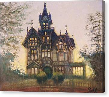 Mansion In Eureka Canvas Print by Raffi  Jacobian