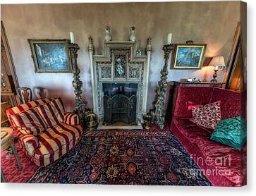 Mansion Sitting Room Canvas Print by Adrian Evans