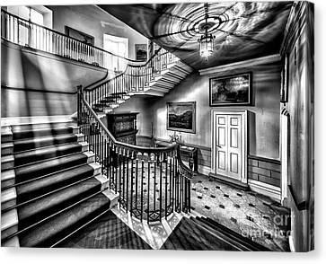 Mansion Stairway V2 Canvas Print by Adrian Evans