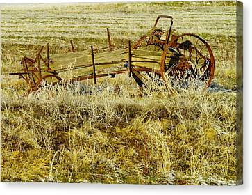 Manure Spreader Canvas Print by Jeff Swan