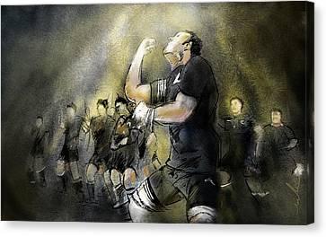 Maori Haka Canvas Print by Miki De Goodaboom