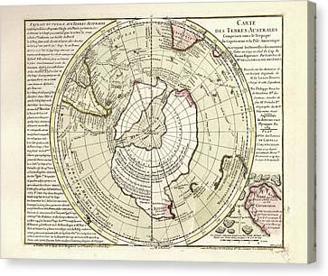 Map Of Antarctica Canvas Print by Library Of Congress, Geography And Map Division