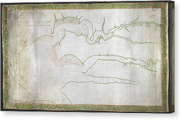 Map Of James And York Rivers Canvas Print by British Library